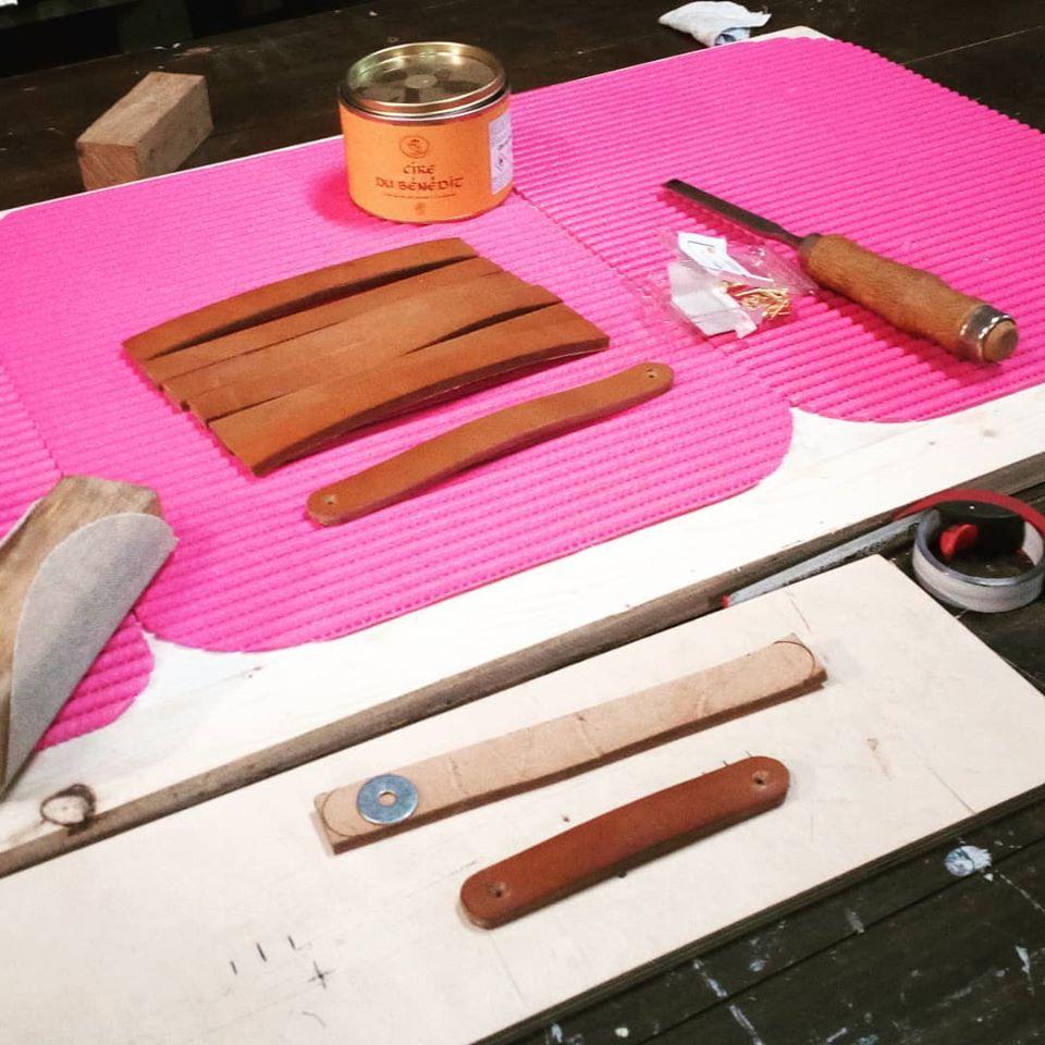 Réalisation poignées cuir