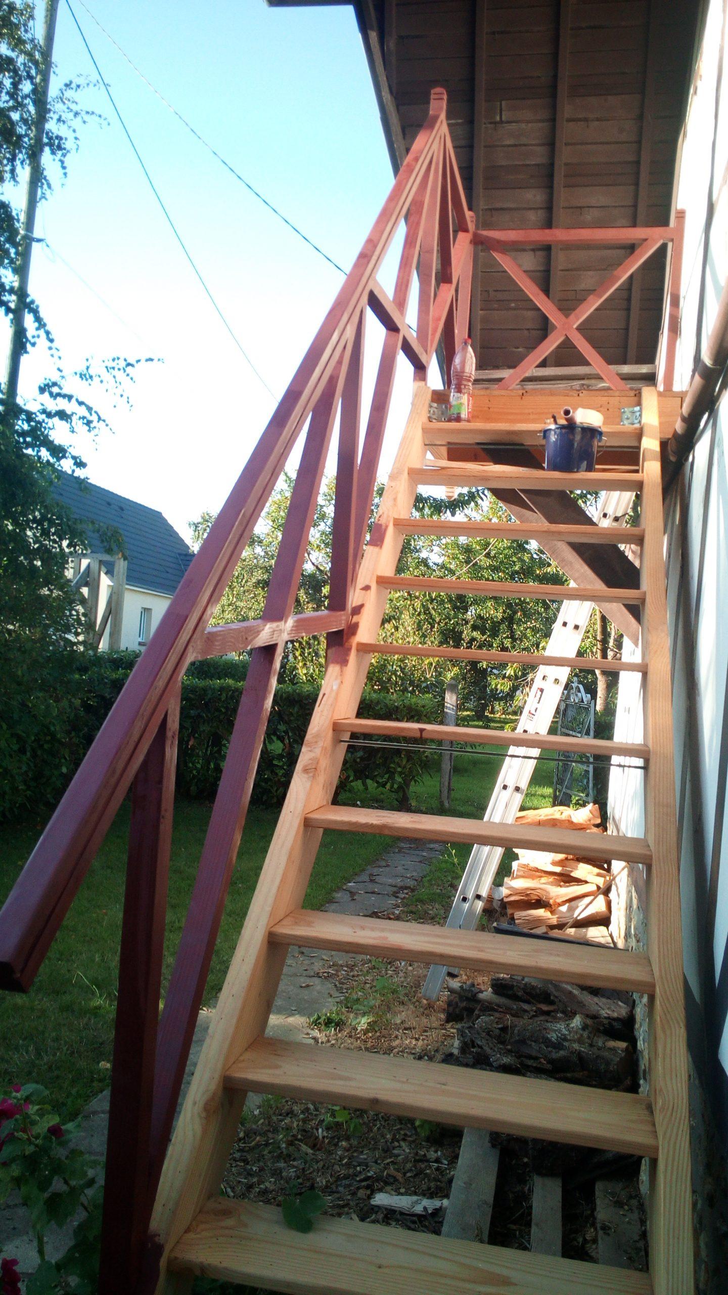 escalier bois normandie